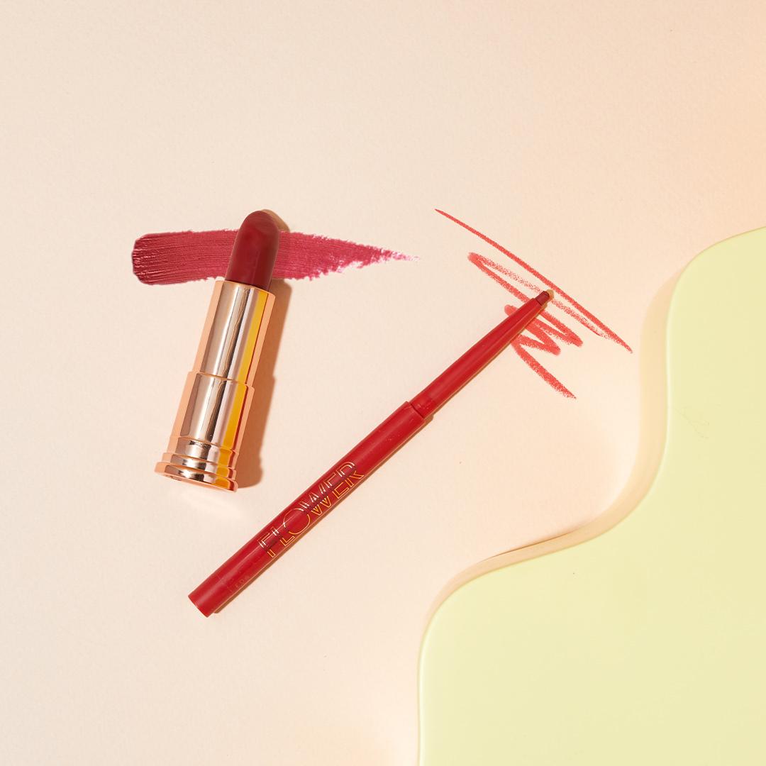 05-2021_FLOWER_Evergreen-Bundle_Petal-Pout_Lip-Liner_Perfect-Pout_Moisturizing-Lipstick_02_1x1